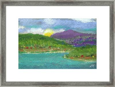 Framed Print featuring the photograph Lake View by David Patterson