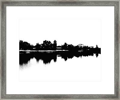 Lakeside Silhouette Framed Print