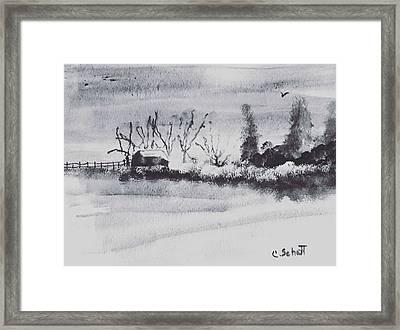 Lakeside View Framed Print