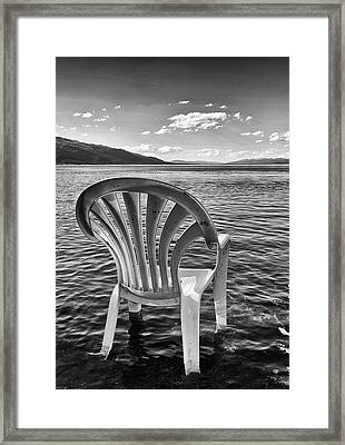 Lakeside Waiting Room Framed Print