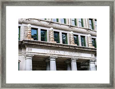 Lamar Building - Augusta Ga Framed Print