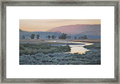 Framed Print featuring the painting Lamar Evening by Peter Mathios