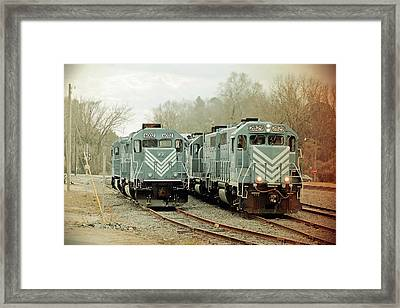 Framed Print featuring the photograph Lancaster Chester Railroad 2829 Vintage by Joseph C Hinson Photography