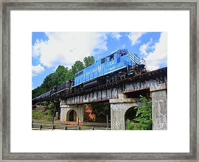 Framed Print featuring the photograph Lancaster Chester Railroad 3820 Color 10 by Joseph C Hinson Photography