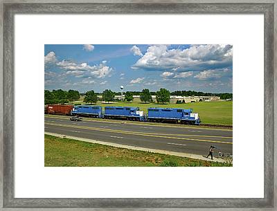 Framed Print featuring the photograph Lancaster Chester Railroad In Fort Lawn 21 by Joseph C Hinson Photography