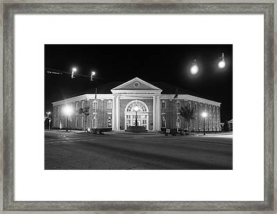 Framed Print featuring the photograph Lancaster County Administration Building 2016 Night B W by Joseph C Hinson Photography