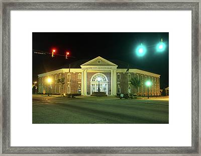 Framed Print featuring the photograph Lancaster County Administration Building 2016 Night by Joseph C Hinson Photography