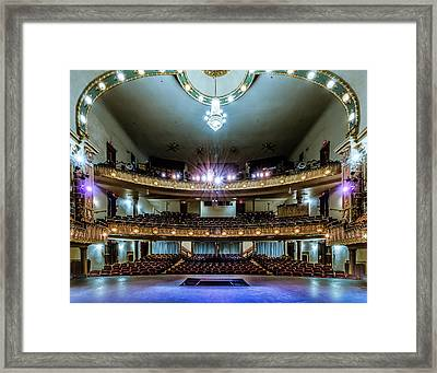 Landers Theatre Stage View Framed Print