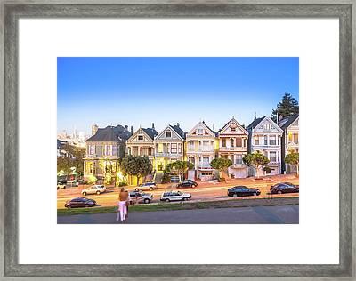 Landmark Residential House In San Framed Print by Dowell
