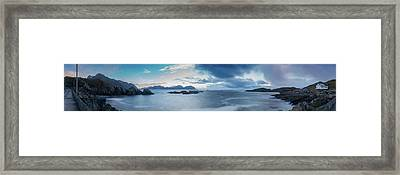 Landscape In The Lofoten Islands Framed Print