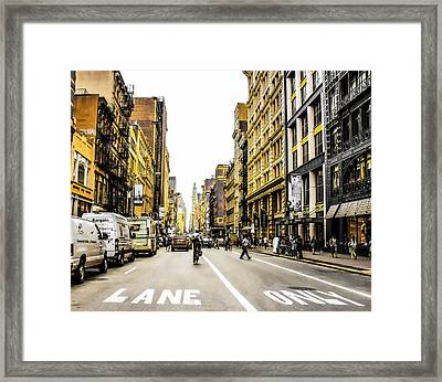 Framed Print featuring the photograph Lane Only  by Geraldine Gracia