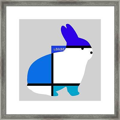 Lapin Agile Blue Framed Print