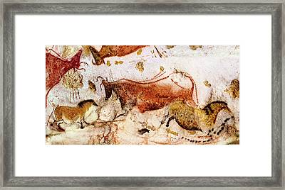 Lascaux Cow And Horses Framed Print