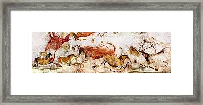 Lascaux Cows Horses And Deer Framed Print