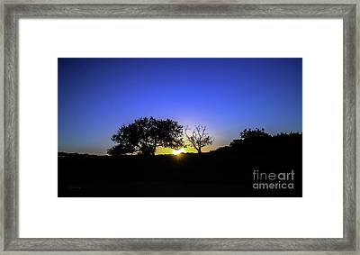 Last Light Texas Hill Country Paradise Canyon Sunset 8053a Framed Print