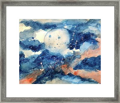 Last Nights Magic Moon Framed Print