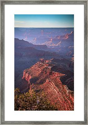 Late Afternoon Blues Framed Print