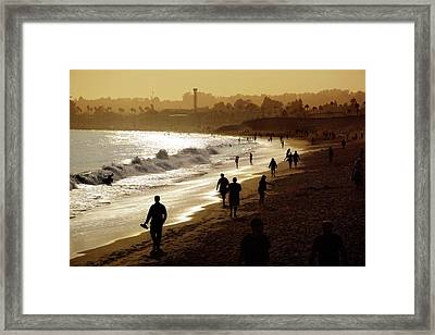 Framed Print featuring the photograph Late Afternoon Stroll by Quality HDR Photography