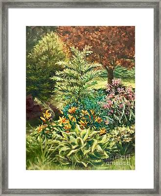 Late Summer Garden Framed Print