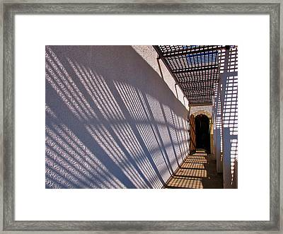 Lattice Shadows Framed Print