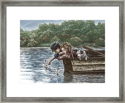 Launching Dreams Framed Print