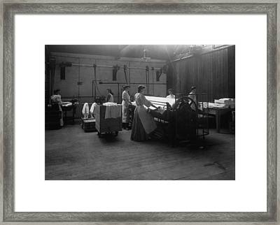 Laundry Framed Print by Hulton Archive