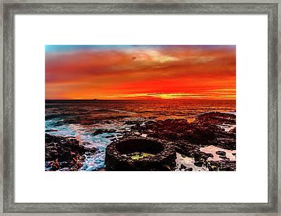 Lava Bath After Sunset Framed Print