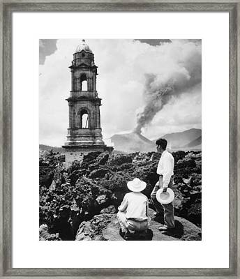 Lava Covers Church Framed Print by Evans