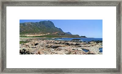 Lava Rocks Of Balos Framed Print