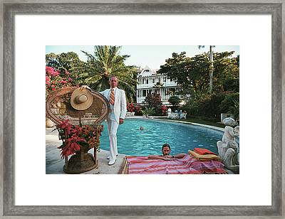 Lawrence Peabody II Framed Print by Slim Aarons