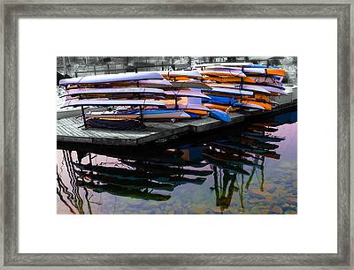 Layers And Layers By The Water Framed Print