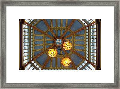 Leadenhall Market Ceiling Framed Print