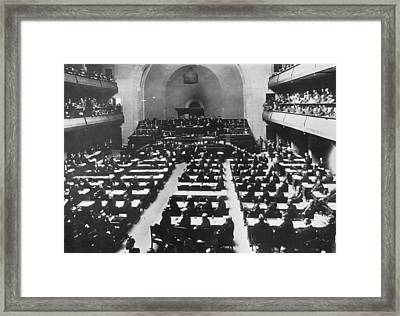 League Of Nations Framed Print by Hulton Archive