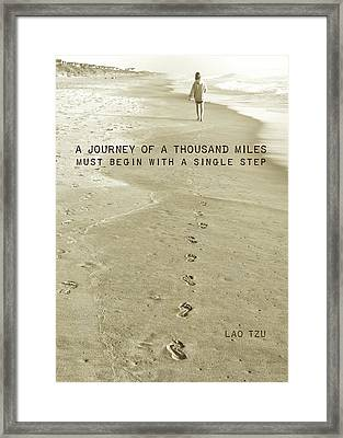 Leave Your Mark Quote Framed Print by JAMART Photography