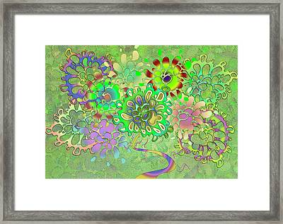 Leaves Remix Framed Print