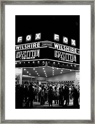 Led Zeppelin Song Remains The Same Framed Print by Michael Ochs Archives
