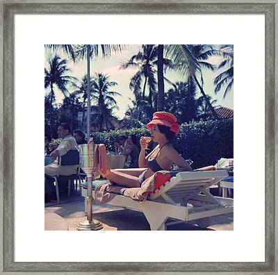Leisure And Fashion Framed Print by Slim Aarons