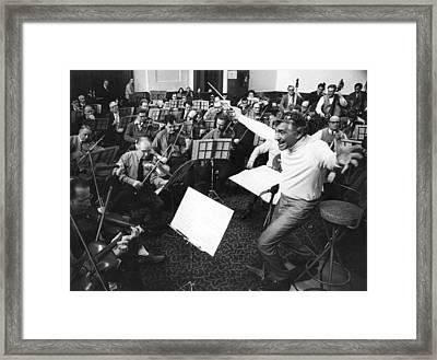 Leonard Conducts Framed Print by Ian Showell