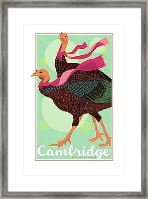Les Foulards De Cambridge Framed Print