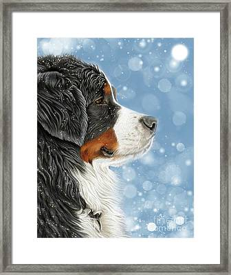 Framed Print featuring the mixed media Let It Snow - Arctic Blue by Donna Mulley