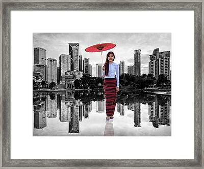 Let The City Be Your Stage Framed Print