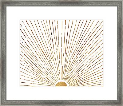 Framed Print featuring the mixed media Let The Sunshine In by Kristian Gallagher