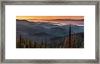 Lewis And Clark Route 2 Framed Print by Leland D Howard