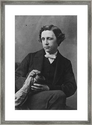 Lewis Carroll Framed Print by Oscar Gustav Rejlander