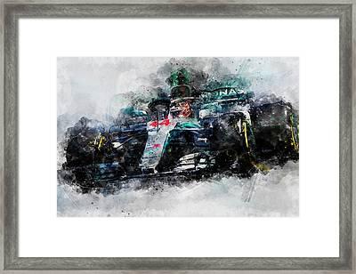 Lewis Hamilton, Mercedes Amg F1 W09 - 10 Framed Print