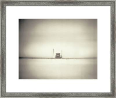 Lifeguard Hut On Santa Monica Beach Framed Print