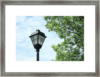Light Pole In The Sky Framed Print