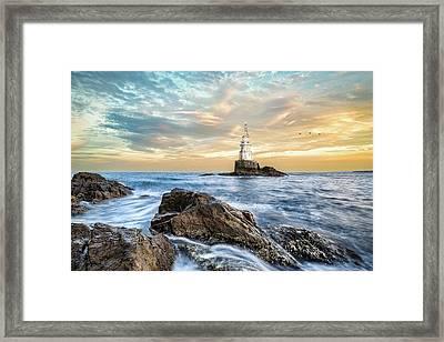 Lighthouse In Ahtopol, Bulgaria Framed Print
