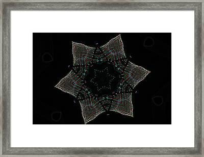 Lights Within A Star Framed Print