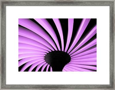 Lilac Fan Ceiling Framed Print
